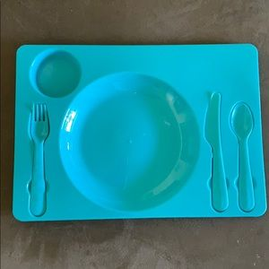 Eating Tray with Utensils